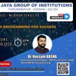 Webinar Series by Jaya Group of Institutions
