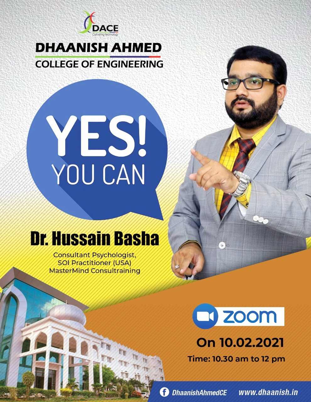 Yes! You Can! - Webinar by Dhaanish College